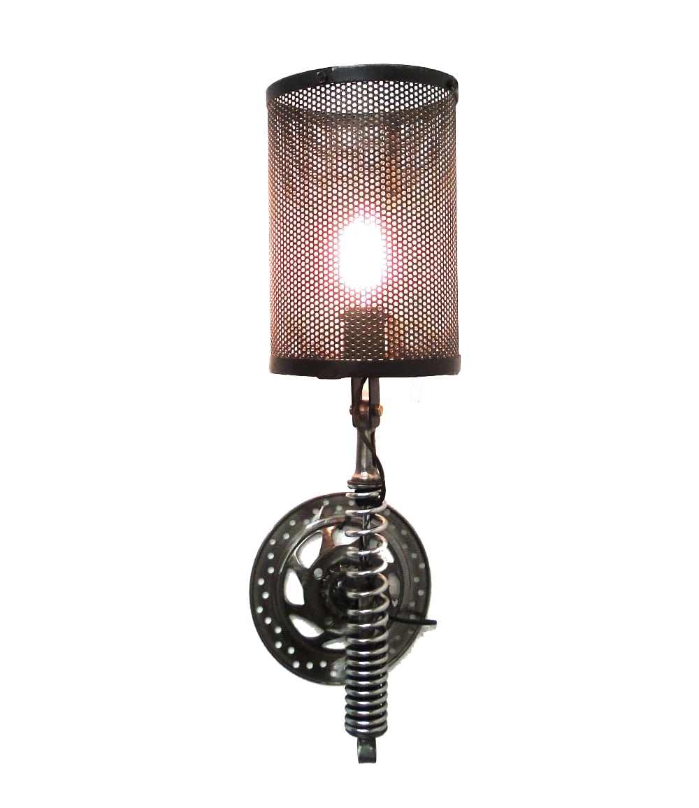 Wall Mount Motorcycle Clutch & Spring Sconce Light Fixture ... on Wall Sconce Parts id=60121