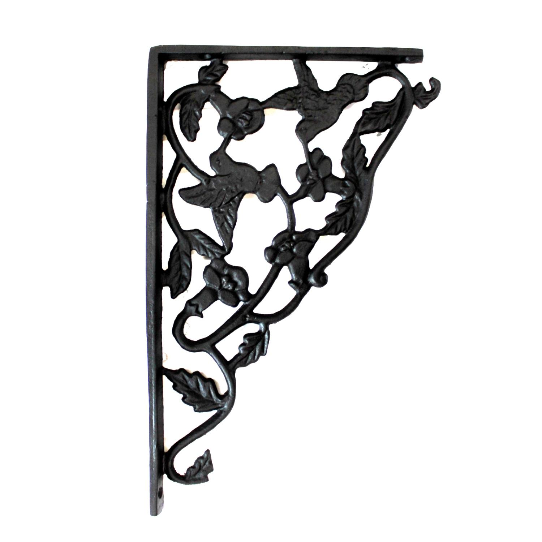Cast Iron Hummingbird Shelf Bracket Black Finish Sold As Pair 2pcs The Kings Bay