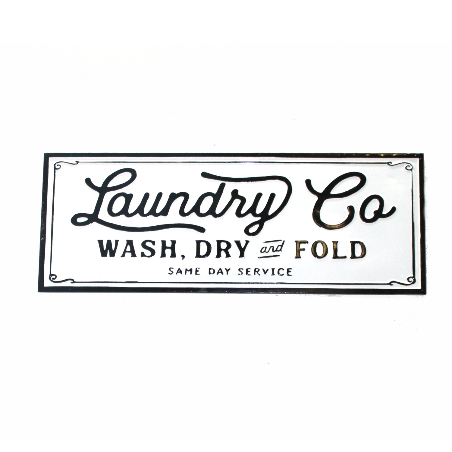 Laundry Vintage Style Sign Wash Dry Fold Old Business