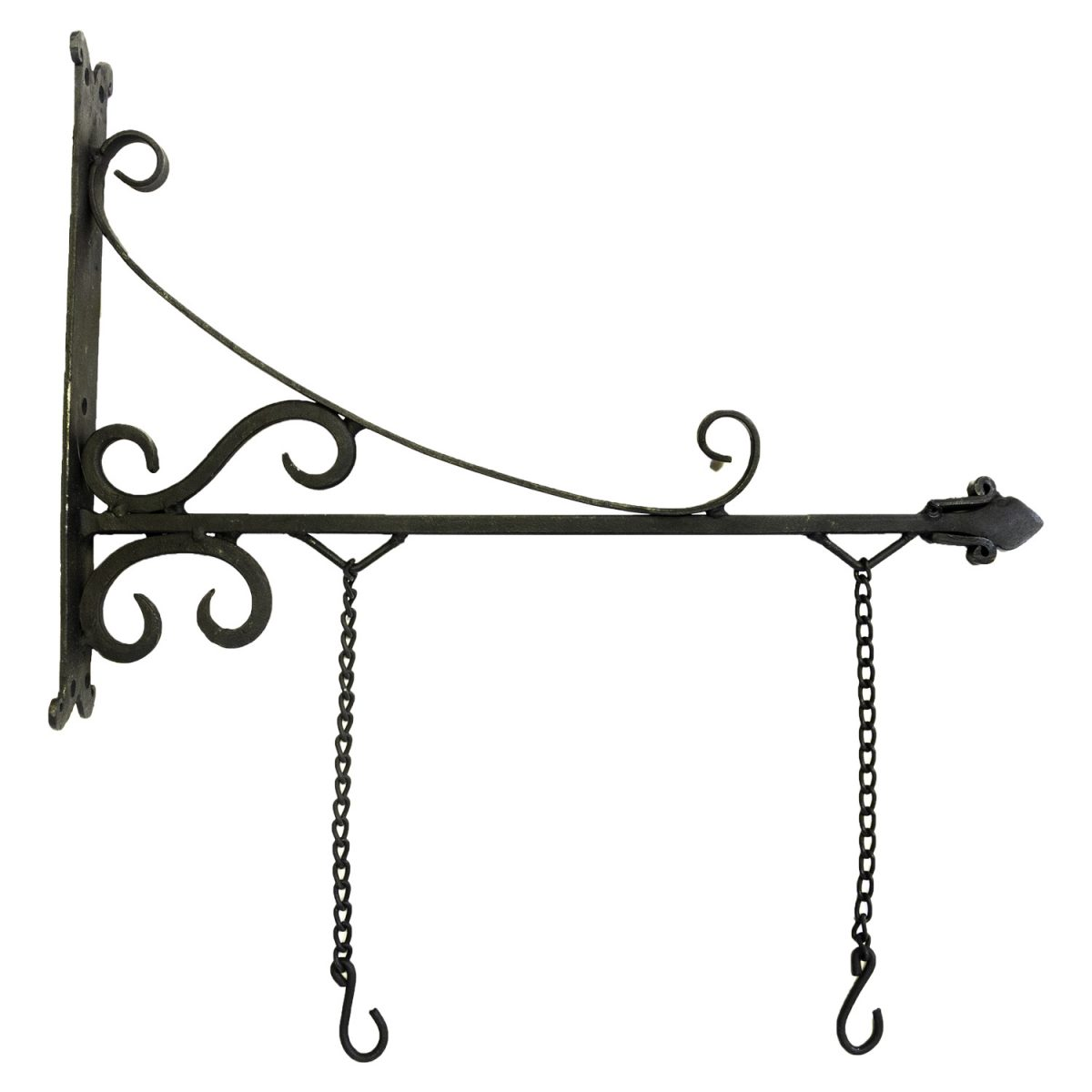 Trade Sign Bracket In Black Finish Iron Hand Forged Store