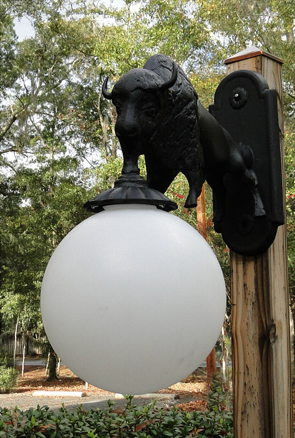 Wall Mount Buffalo Sconce Light Indoor Outdoor Non Rust ... on Decorative Wall Sconces Non Lighting id=55896