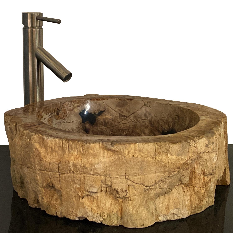 bathroom counter top petrified wood vessel basin sink ws9