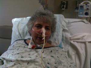 Charlotte in hospital