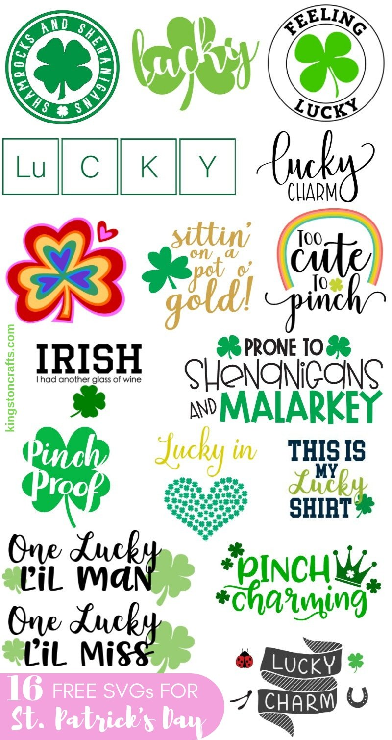 Download Free SVG Files for St. Patrick's Day - The Kingston Home