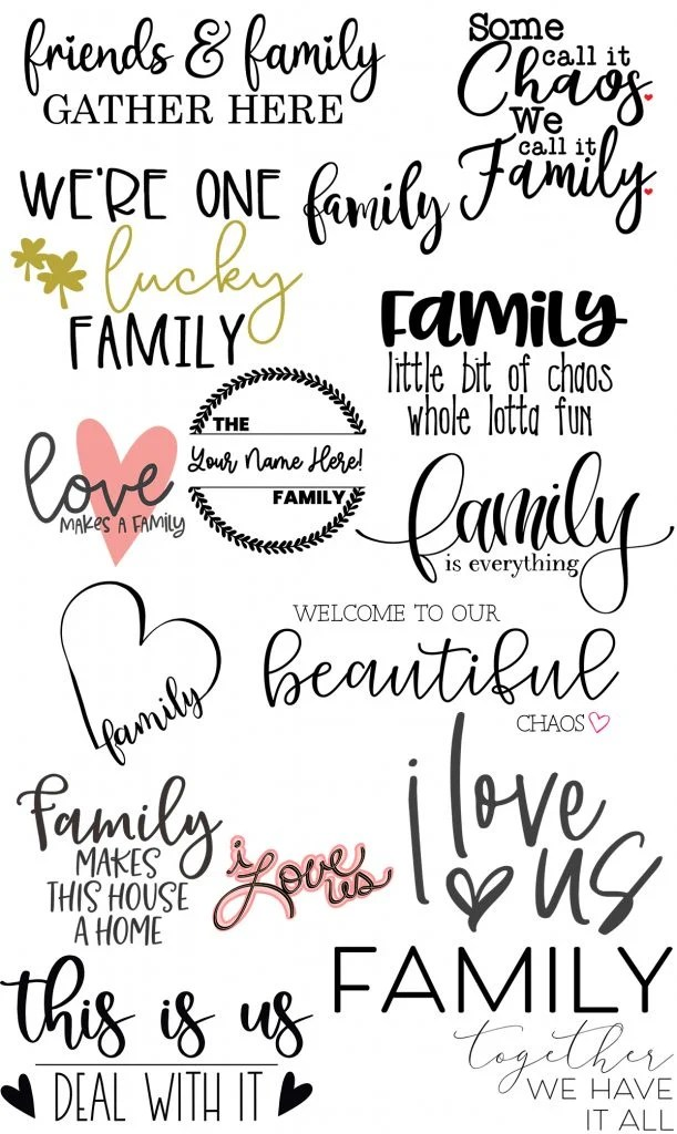 Download Free Family SVG Files For Your Cricut or Silhouette - The ...