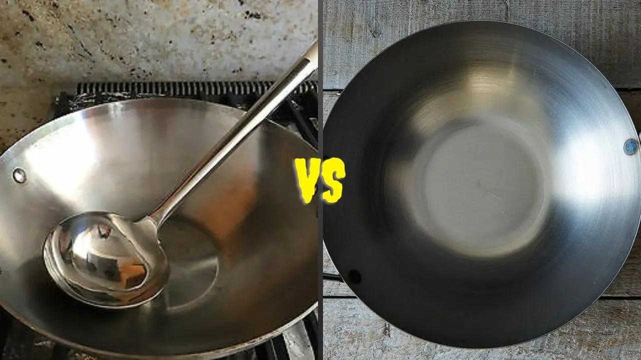Carbon Steel VS Stainless Steel Wok