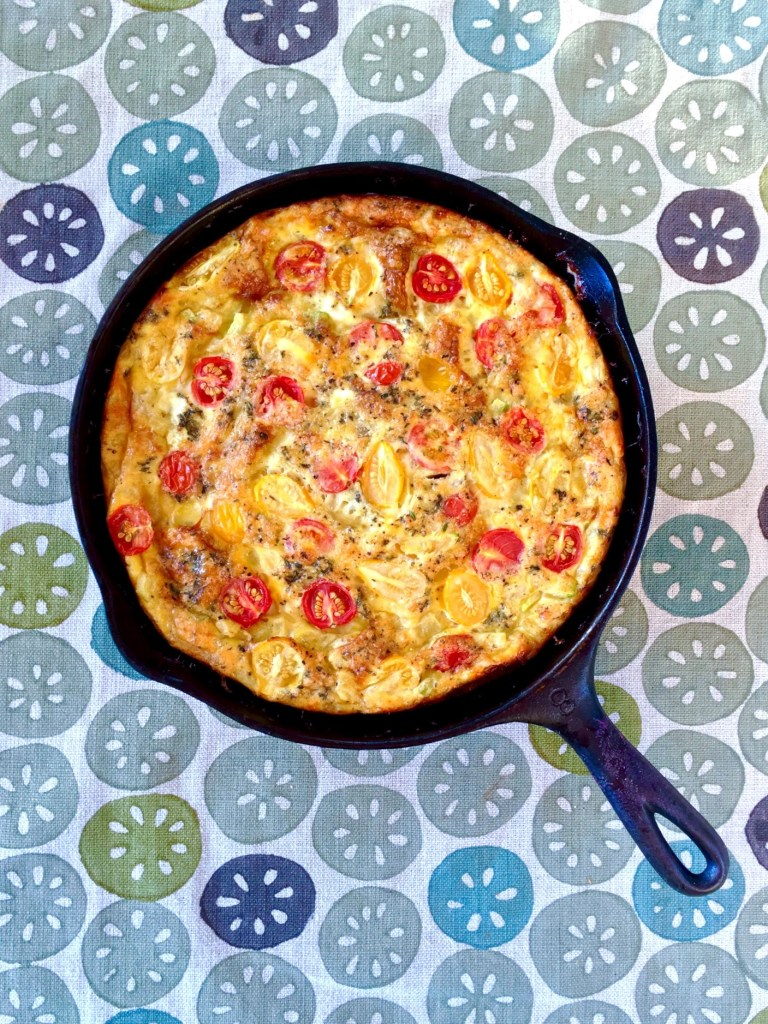 Caramelized Onion + Cherry Tomato Frittata