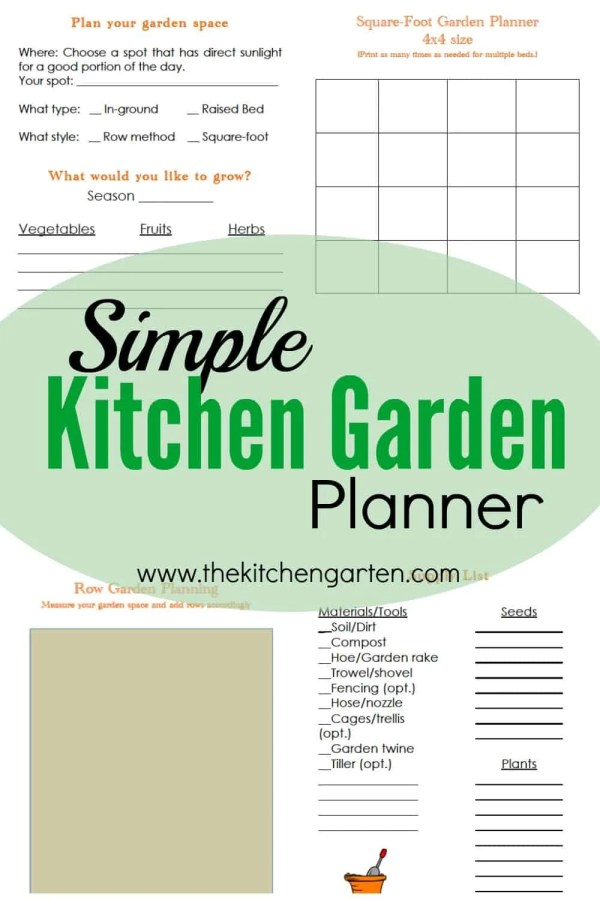 Free Kitchen Garden Planner The Kitchen Garten