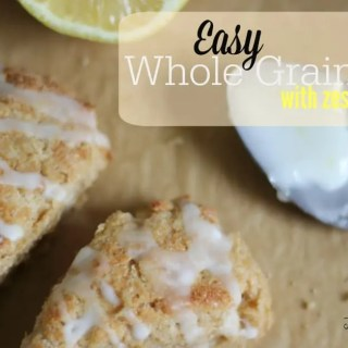 Easy Scones with Zesty Lemon Glaze