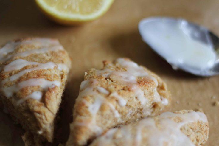 scones lemon glaze