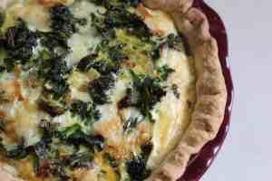 Kale and Havarti Quiche