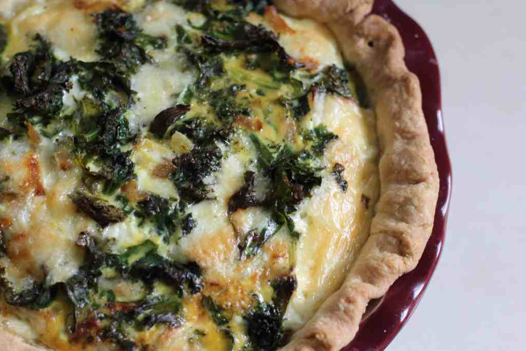 kale quiche top