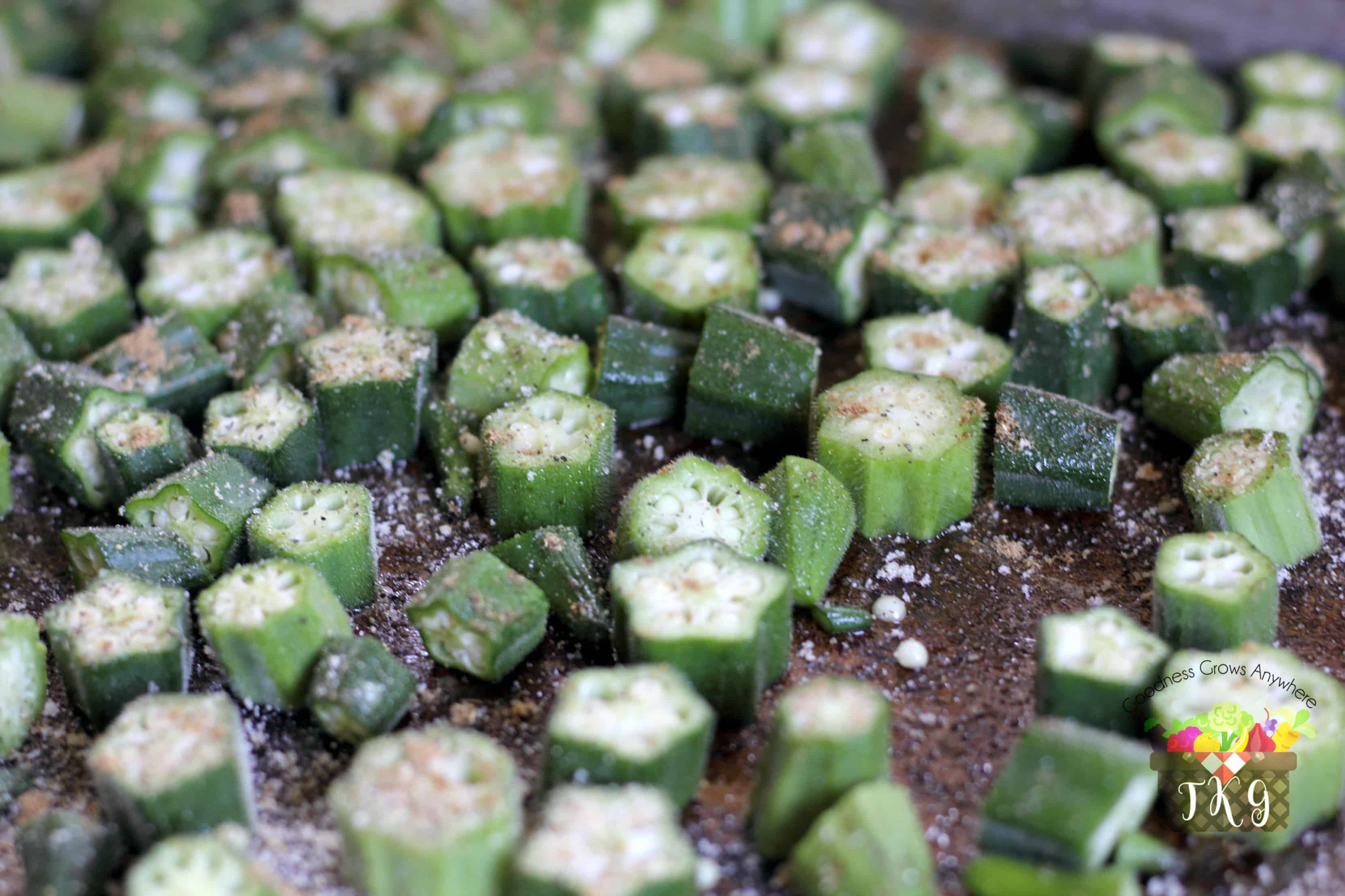 place - How To Freeze Fresh Okra