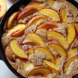 Skillet Peach Cobbler (whole grain!)