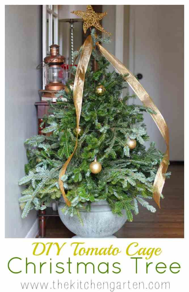 diy tomato cage christmas tree - Tomato Cage Christmas Decorations