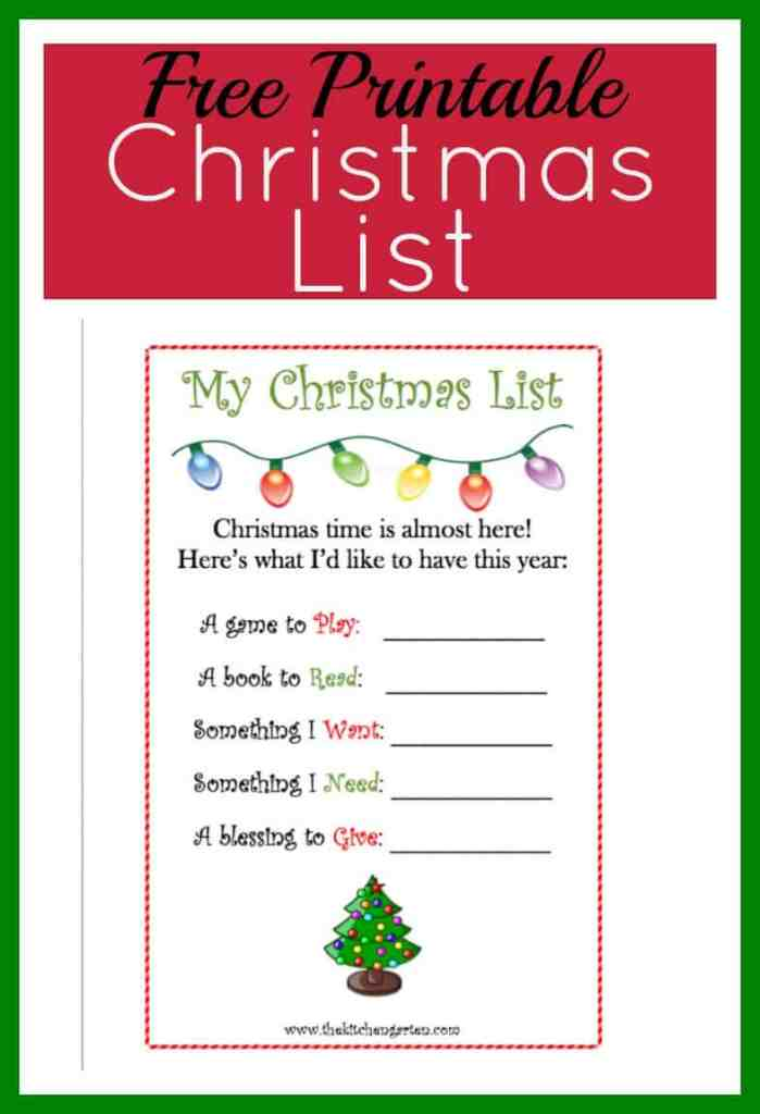 christmas list pin
