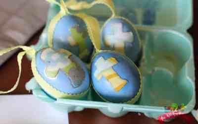 Easy Mod Podge Easter Eggs
