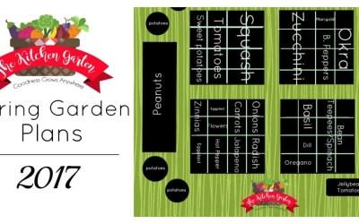 2017 Spring Kitchen Garden Plans