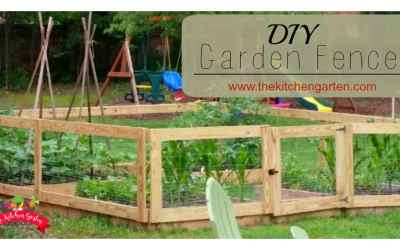 DIY Raised Bed Garden Fence