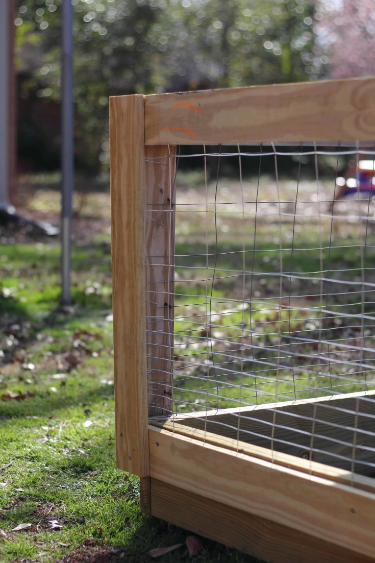 DIY Raised Bed Vegetable Garden Fence