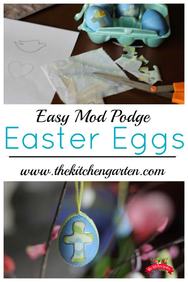Use real eggs this spring to decorate! With scrap fabric and Mod Podge, you can transform empty egg shells into decor you can use for years to come!