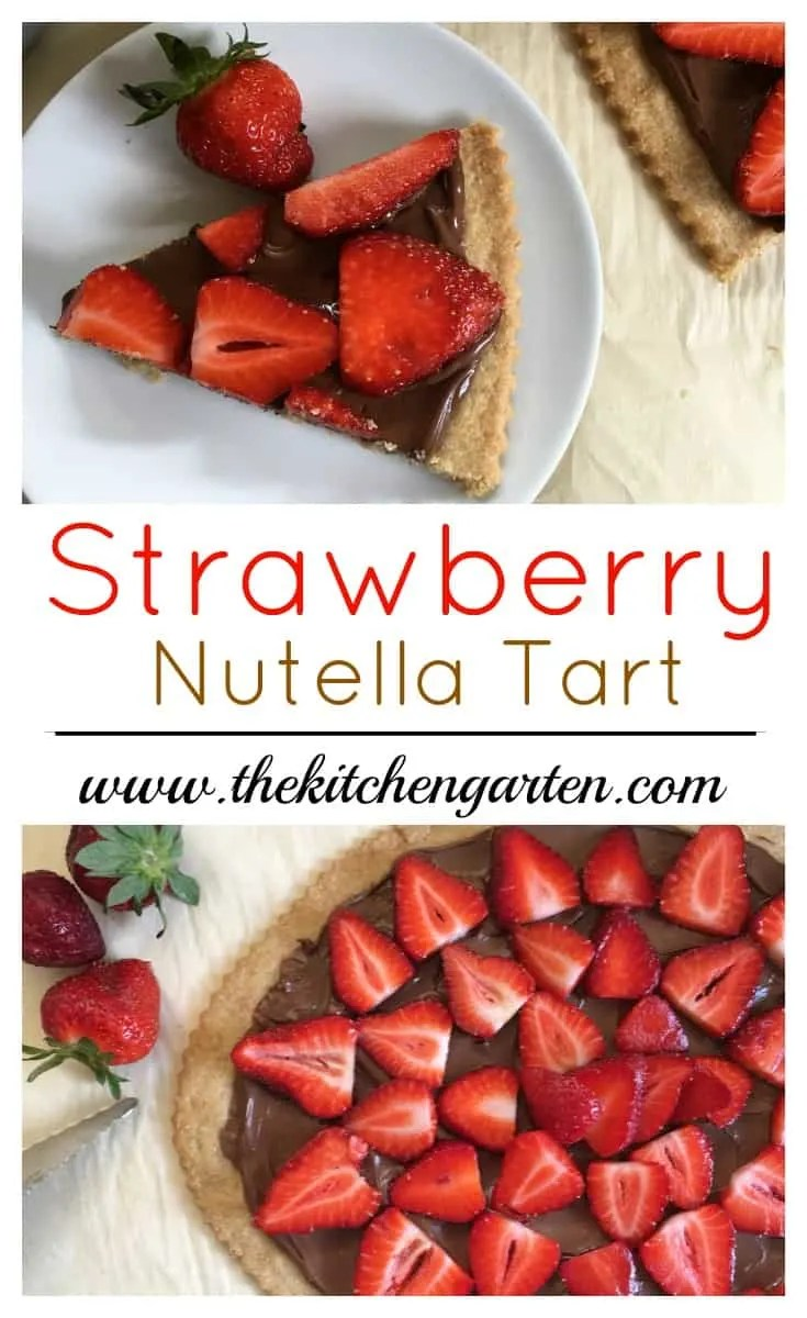 Prepare this beautiful Strawberry Nutella Tart with ripe strawberries, Nutella hazelnut spread, and a pie crust that can be either store bought or homemade.