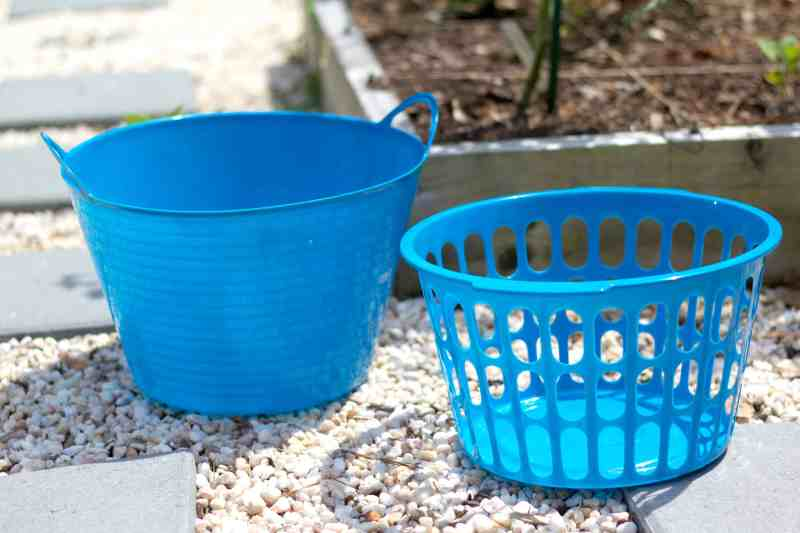 DIY garden gathering basket