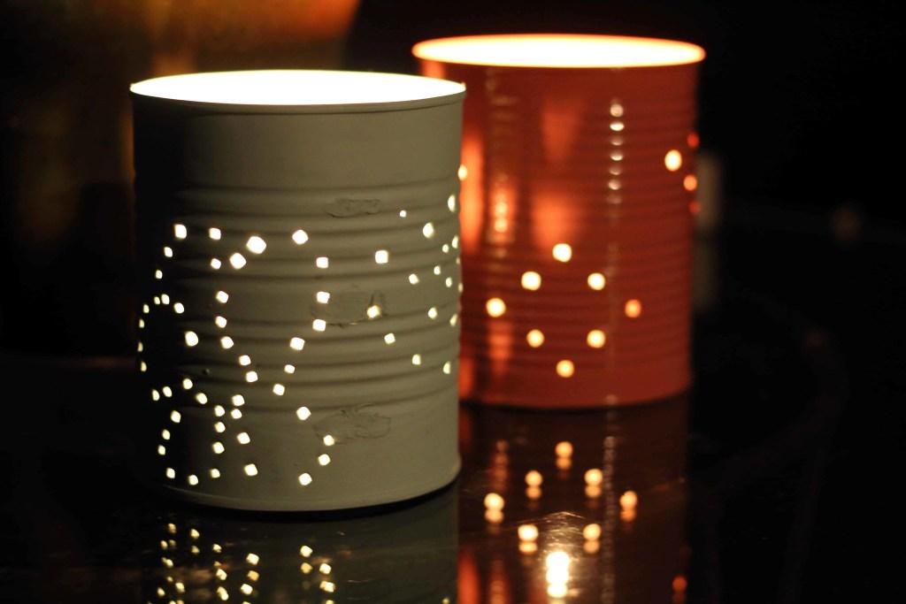 Tin Can Garden Lanterns