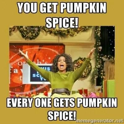 Pumpkin spice meme