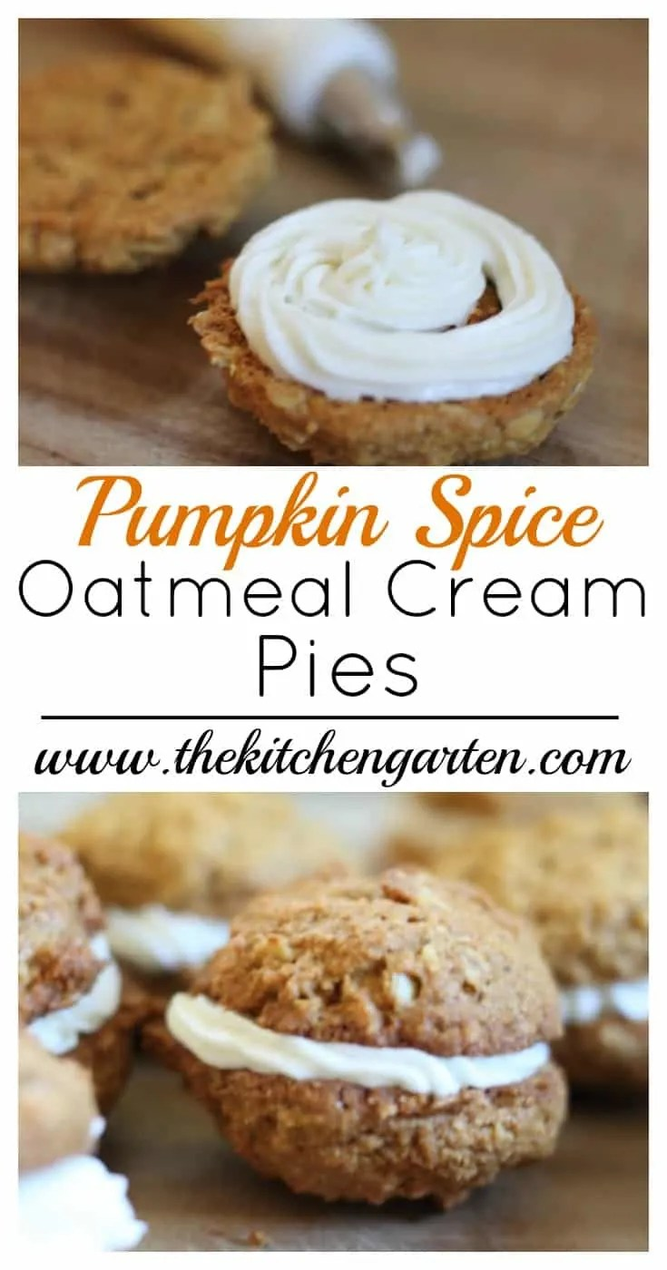 Celebrate fall with these Pumpkin Spice Oatmeal Cream Pies! A perfect treat for cooler days!