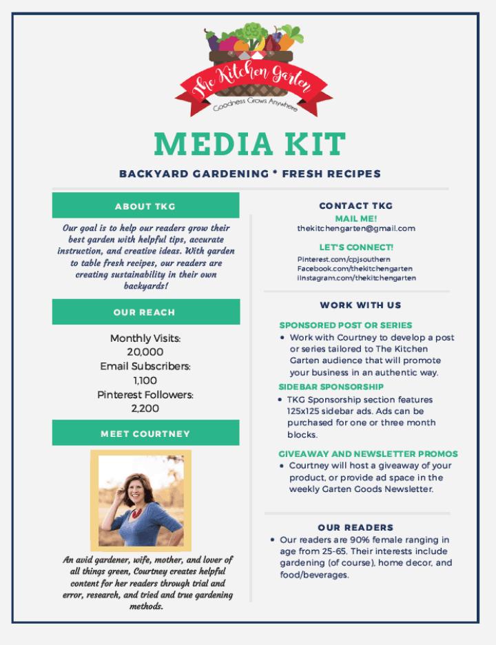 The Kitchen Garten Media Kit