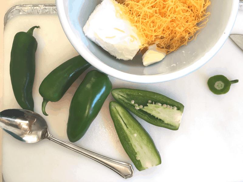 grilled jalapeños