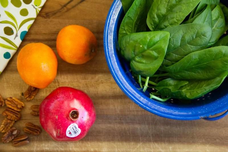 Pomegranate spinach salad recipe
