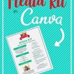 media kit in canva