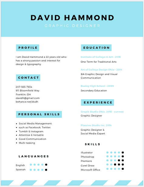 canva resume template