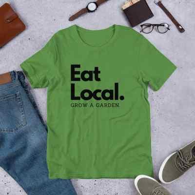 eat local garden shirt