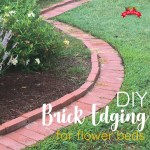 DIY Brick Garden Edging