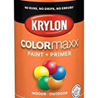 Krylon K05532007 COLORmaxx Spray Paint, Aerosol, Pumpkin Orange