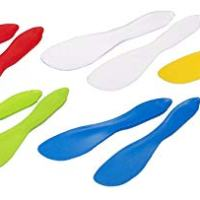 Linden Sweden Multi Purpose Spreaders Set of 10, Multi Colored - Versatile Butter Knife for Soft Cheese, Peanut Butter, Frosting - Safe for Kids - BPA-Free and Dishwasher-Safe - Made in Sweden