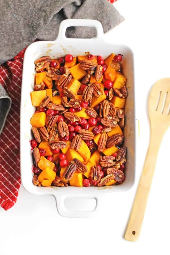 roasted butternut squash with maple syrup and cinnamon