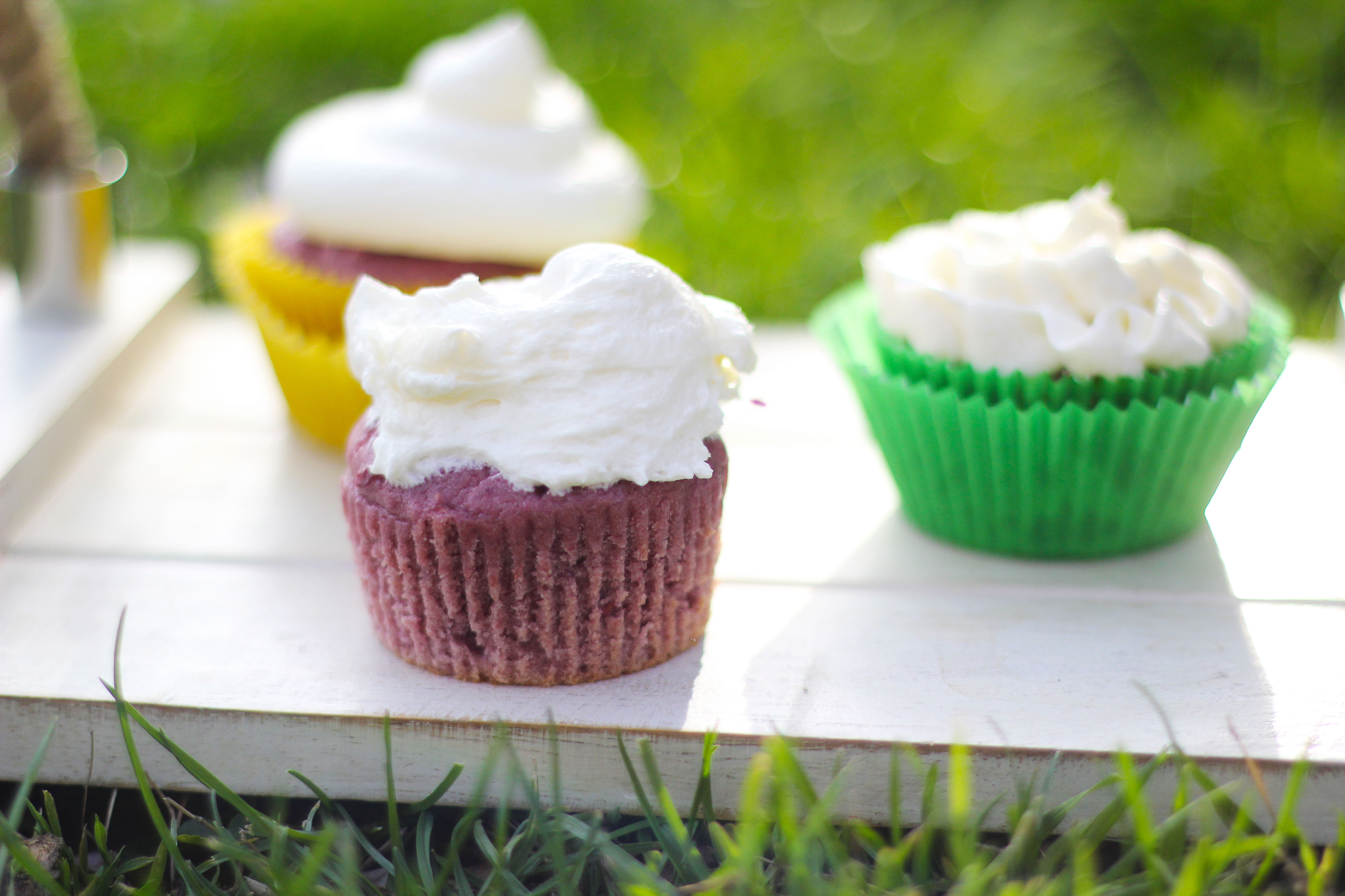 Mixed Berry Moscato Cupcakes