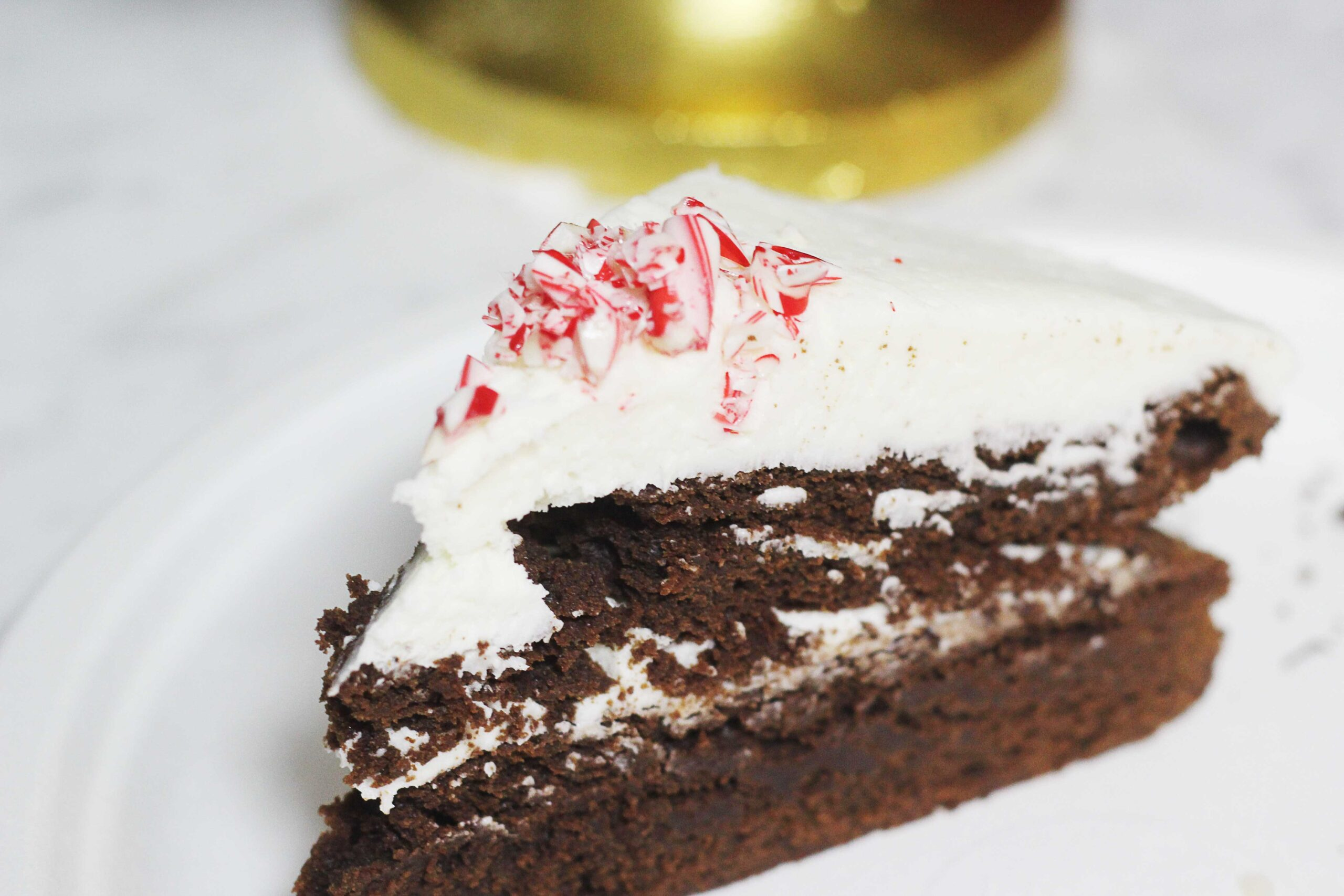 Peppermint Brownie Cake