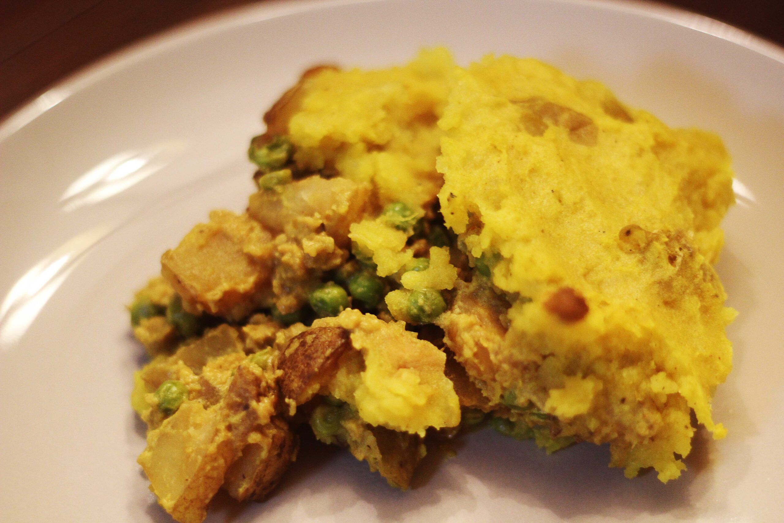 Vegan Cottage Pie, Indian Style