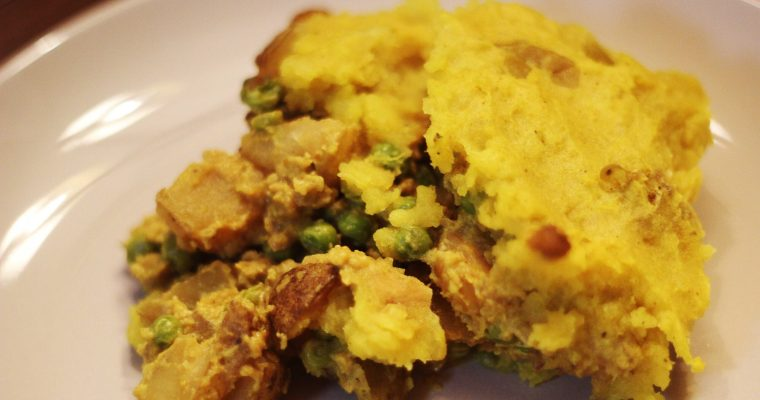 Vegan Cottage Pie, Indian Style