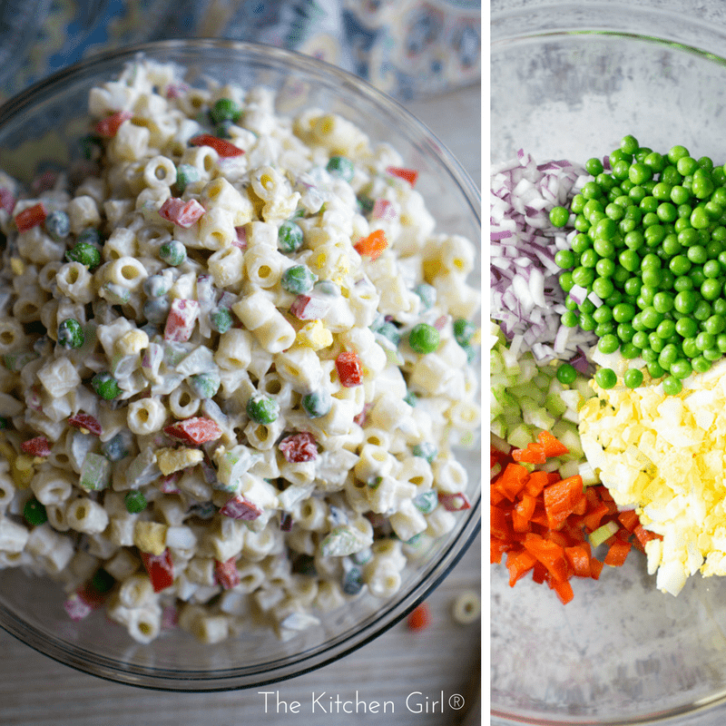 Secretly healthy picnic food! Classic Macaroni Salad With Greek Yogurt Dressing instead of ALL mayo. It's creamy, zesty, and full of vegetables! thekitchengirl.com