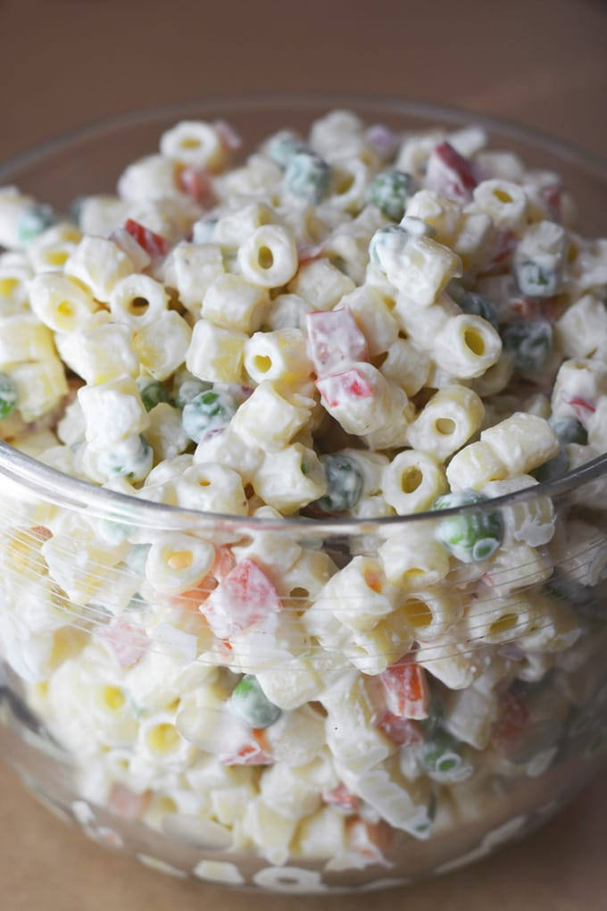 Classic Macaroni Salad Made With Greek Yogurt