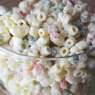 Classic Macaroni Salad Made With Greek Yogurt