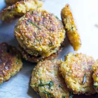 Poor Man's Crab Cakes: Zucchini Quinoa Fritters