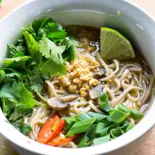 Feel Better Pho: Cold Relief Veggie Noodle Soup