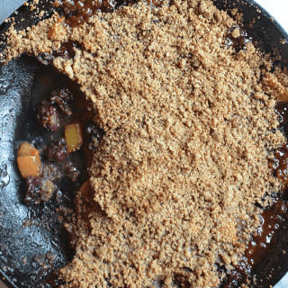 Gluten Free Peach Blackberry Crisp